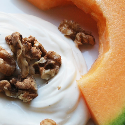 Cantaloupe Yogurt Breakfast