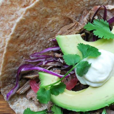 Tacos de porc effiloché à la mexicaine