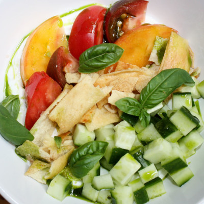 Cucumber, Tomato, and Basil Bowl