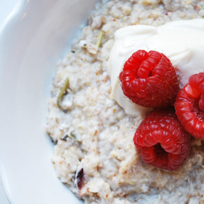 Hot Oatmeal with Yogurt
