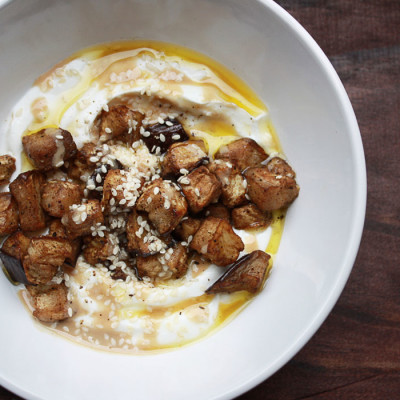 Roasted Eggplant Skyr Bowl
