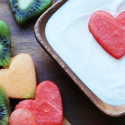 Trempette à la vanille et aux fruits