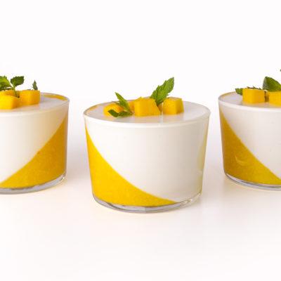 Panna cotta à la mangue et vanille