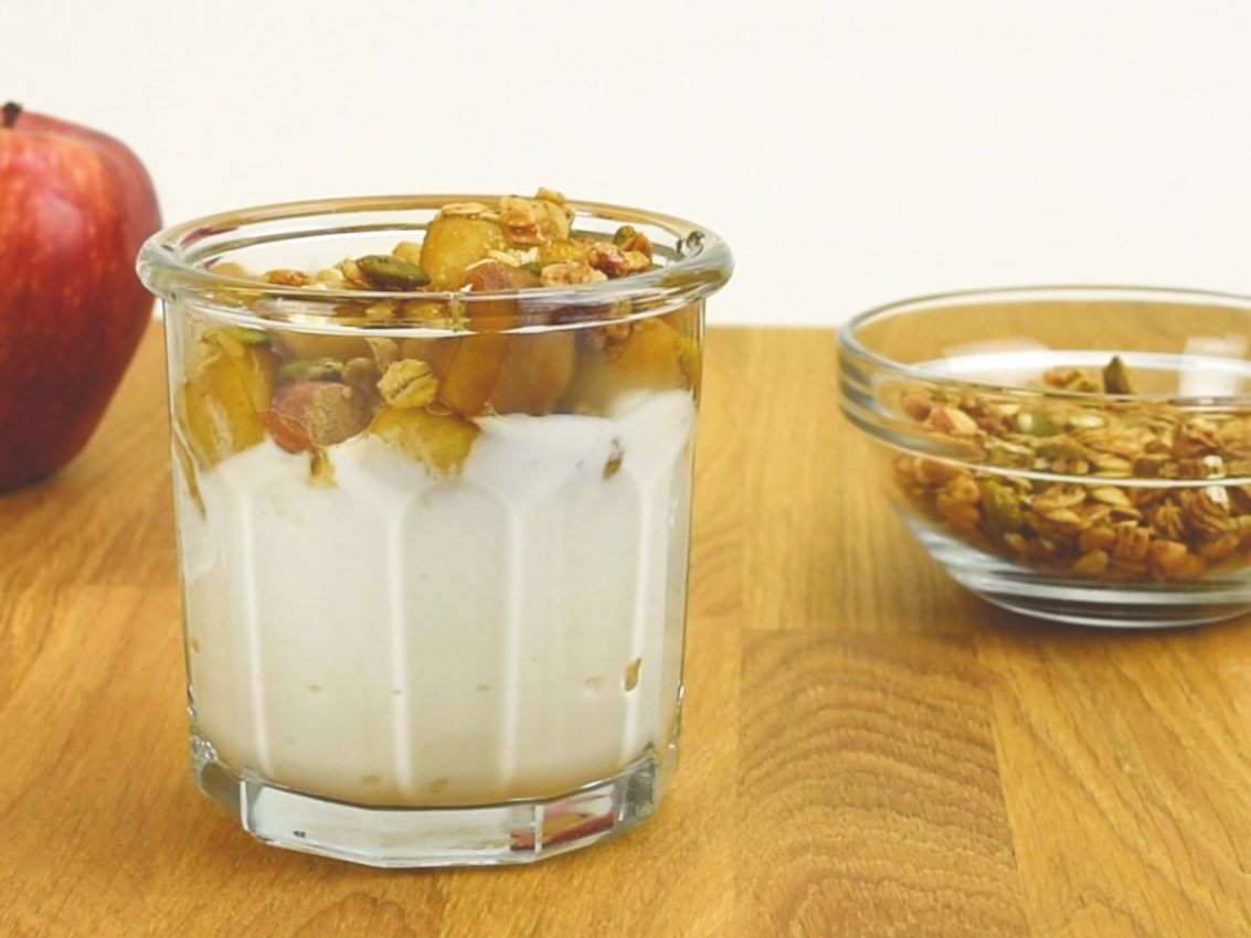 cinnamon apple parfait